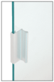 "CRL D643A Satin Anodized Aluminum 3"" Pull with 7/16"" Lip for Sliding Glass and Panel Door"