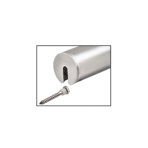 "Polished Stainless Stabilizing End Cap for 2-1/2"" Cap Railing"