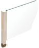 """CRL PP41CBS Brushed Stainless 16"""" High 1-1/2"""" Square PP41 Plaza Series Counter/Partition Center Post With Air Space"""