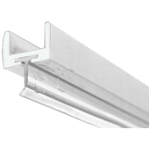 """Brite Anodized Frameless Shower Door Aluminum U-Channel With Wipe for 1/2"""" Thick Glass"""