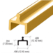 CRL D601BGA Brite Gold Anodized Aluminum Single Bottom Rail