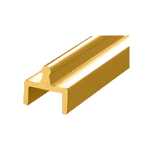 Brite Gold Anodized Aluminum Single Bottom Rail