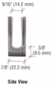 """CRL EH15 Brushed Nickel Face Plate Clamp for 3/8"""" to 1/2"""" Glass"""