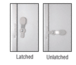 """CRL 925A Satin Anodized 2-5/8"""" x 12-1/8"""" Deluxe Mail Slot With Glass Channel Bar and Latch"""