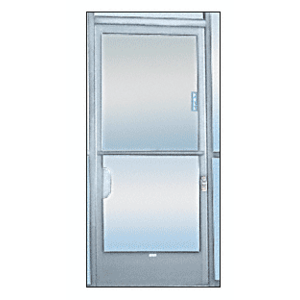 "CRL 925A Satin Anodized 2-5/8"" x 12-1/8"" Deluxe Mail Slot With Glass Channel Bar and Latch"