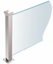 """CRL PP42EPS Polished Stainless 18"""" High 1-1/2"""" Square PP42 Plaza Series Counter/Partition End Post With Air Space"""