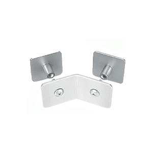 CRL PB006BS Brushed Stainless Bullet Resistant Protective Barrier System 135 Degree Top or Mid-Mount Outside Clamp