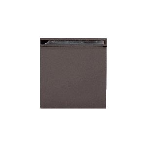 CRL SGCU10RB Oil Rubbed Bronze Square Style Notch-in-Glass Fixed Panel U-Clamp
