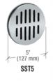 "CRL SST5 Brushed Stainless Steel 5"" Speak-Thru"