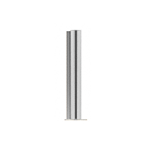 "CRL PP0818LBS Brushed Stainless 18"" Round PP08 Elegant Series Counter/Partition Corner Post"