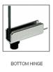 CRL GDH5CH Chrome Standard Mount Glass Door Hinge