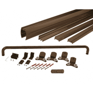 "CRL DK3872800RB Oil Rubbed Bronze 72"" x 80"" Cottage DK Series Sliding Shower Door Kit With Metal Jambs for 3/8"" Glass"