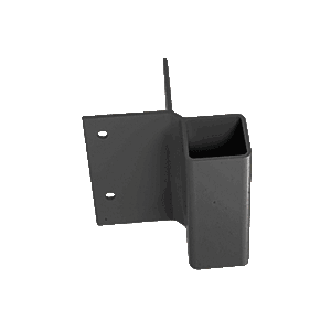 CRL FB2BL Matte Black 90 Degree Fascia Mounted Bracket