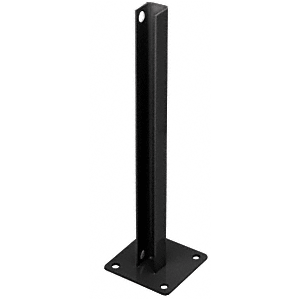CRL PSB1BBL Matte Black AWS Steel Stanchion for 180 Degree Round or Rectangular Center or End Posts