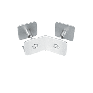 CRL PB007BS Brushed Stainless Bullet Resistant Protective Barrier System 135 Degree Bottom Mount Outside Clamp