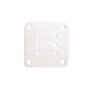 "CRL BP5W Sky White 5"" x 5"" Square Base Plate"