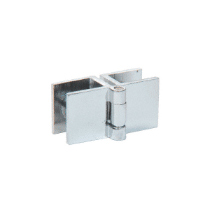 CRL EH196 Chrome Small Glass-to-Glass Out-Swing Set Screw Hinge