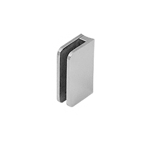 "CRL SA94BS Brushed Stainless Top Radius Base 1/4"" Glass Clip"