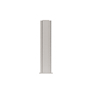 "CRL PP4318CBS Brushed Stainless 18"" High 1-1/2"" Square PP43 Plaza Series Counter/Partition Center Post"