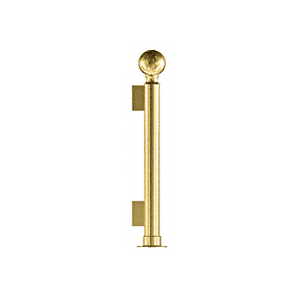 "CRL PP04EPB Polished Brass 16"" Round PP04 Elegant Series Counter/Partition End Post With Air Space"