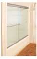 """CRL CK386080BN Brushed Nickel 60"""" x 80"""" Cottage CK Series Sliding Shower Door Kit with Clear Jambs for 3/8"""" Glass"""