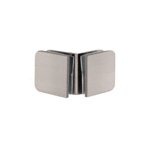 CRL GCB90BN Brushed Nickel 90 Degree Traditional Style Glass-to-Glass Clamp