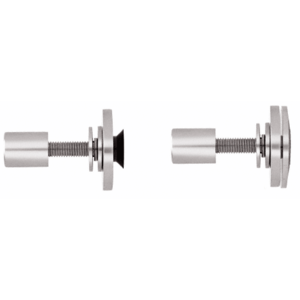 "CRL RRF10PS Polished Stainless Steel Rigid Combination Fastener for 3/8"" to 1/2"" Tempered Glass"