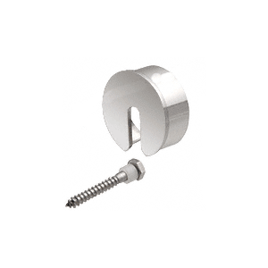 "Polished Stainless Stabilizing End Cap for 3-1/2"" Cap Railing"