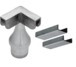 CRL-USALUM ALUM-CR15TA90BS-VCP-1 Brushed Stainless CRS Top Rail Adaptor for 90 Degree Corner Post