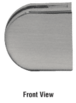 """CRL-USALUM ALUM-Z412BN-VCP-1 Brushed Nickel Z-Series Round Type Flat Base Zinc Clamp for 1/2"""" Glass"""