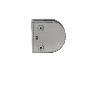 """Brushed Nickel Z-Series Round Type Flat Base Zinc Clamp for 1/2"""" Glass"""
