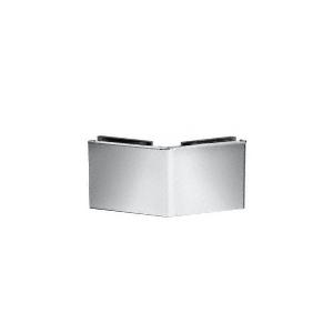 Chrome Square 135 Degree Glass-to-Glass Clamp