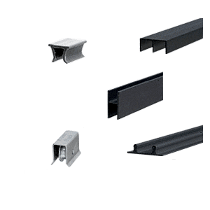 Flat Black Track Assembly D603 Upper and D602 Lower Track With Steel Ball-Bearing Wheels