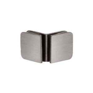 Brushed Nickel Roman Series 90 Degree Glass-to-Glass Clamp