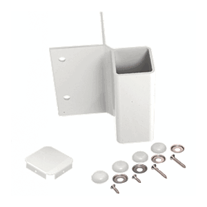CRL FB2W Sky White 90 Degree Fascia Mounted Bracket