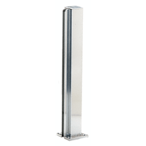 "CRL D990BA24E Brite Anodized 24"" End Design Series Partition Post"