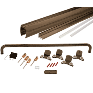 "Oil Rubbed Bronze 72"" x 60"" Cottage CK Series Sliding Shower Door Kit With Clear Jambs for 3/8"" Glass"