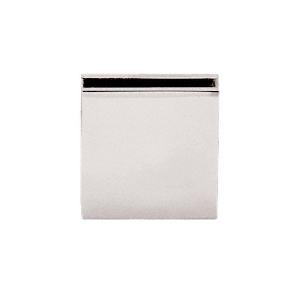 CRL SGCU1PN Polished Nickel Square Style Notch-in-Glass Fixed Panel U-Clamp
