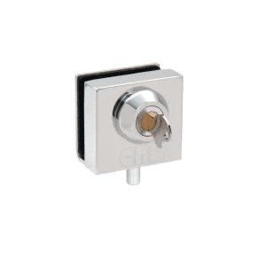 """CRL 03P12 Chrome Deluxe Slip-On Showcase Lock for 1/2"""" Glass"""
