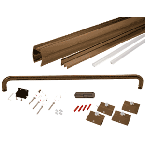 """CRL CK1460720RB Oil Rubbed Bronze 60"""" x 72"""" Cottage CK Series Sliding Shower Door Kit With Clear Jambs for 1/4"""" Glass"""