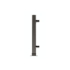 "CRL PP56EBL Black Powder Paint 18"" High 1"" Round PP56 Slimline Series Straight Front Counter/Partition End Post"