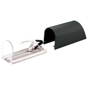 CRL ACH1BL Matte Black Aluminum Post Mounted Decorative Light With Hood