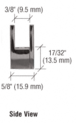 """CRL EH09 Brushed Nickel Face Plate Clamp for 1/4"""" to 5/16"""" Glass"""