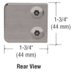 """CRL Z130BN Brushed Nickel Z-Series Zinc Small Square Glass Clamp for 1/4"""" and 5/16"""" Glass"""