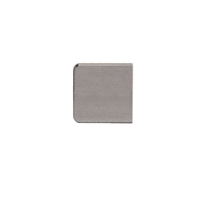 "Brushed Nickel Z-Series Zinc Small Square Glass Clamp for 1/4"" and 5/16"" Glass"
