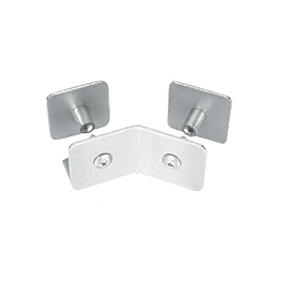 CRL PB007SC Satin Chrome Finish Bullet Resistant Protective Barrier System 135 Degree Bottom Mount Outside Clamp