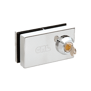 """CRL 01P12 Chrome Deluxe Patch Lock for 1/2"""" Glass"""