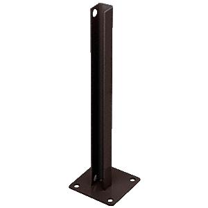 CRL PSB3BBRZ Matte Bronze AWS Steel Stanchion for 90 Degree Rectangular Corner Posts