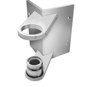 "CRL CR150FBBS Brushed Stainless 1-1/2"" CRS Outside Corner Fascia Mount Bracket"