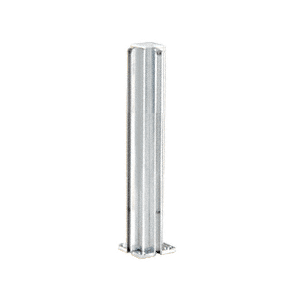 "CRL D990A12CR Satin Anodized 12"" Corner Design Series Partition Post"